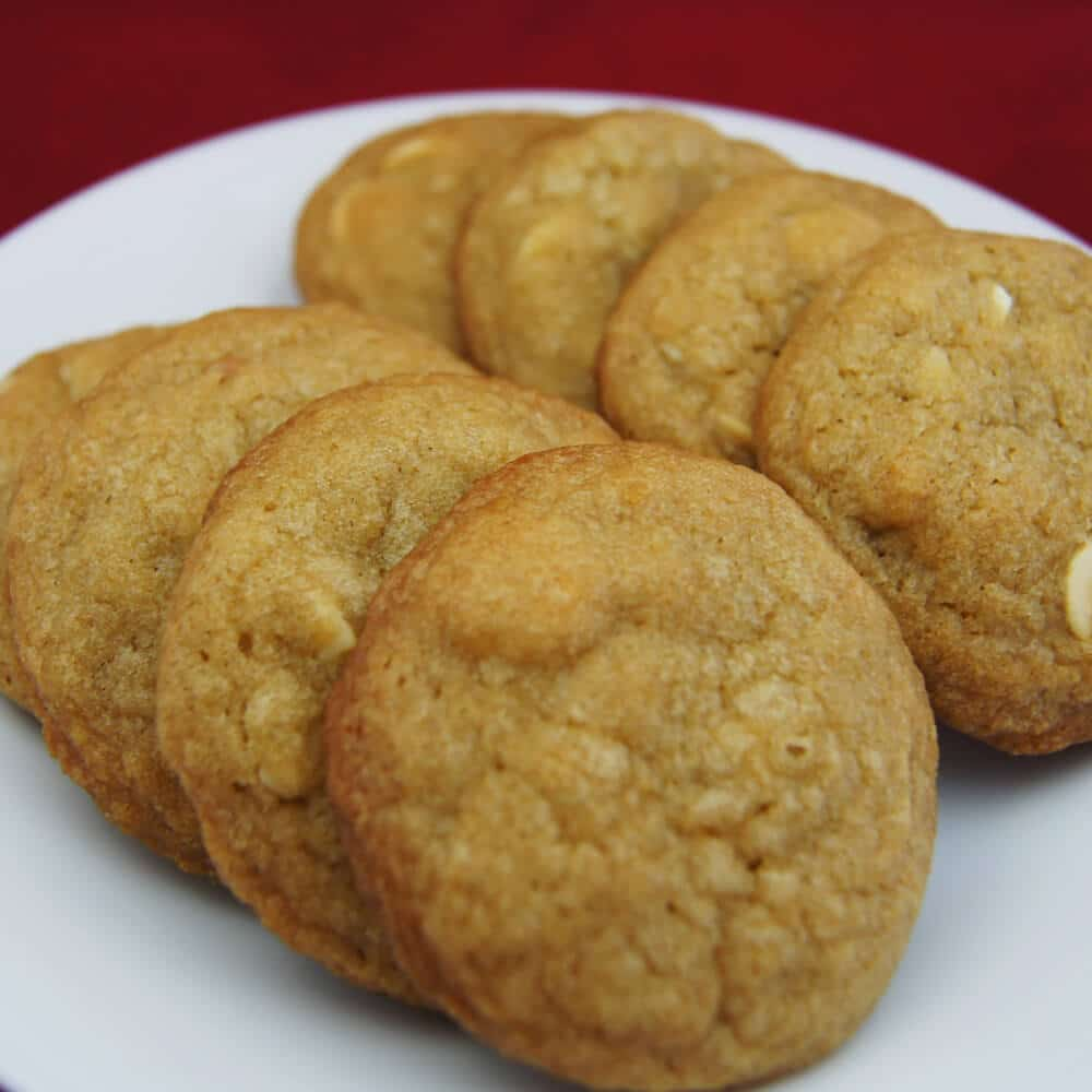 White Chocolate Macadamian Nut Cookies