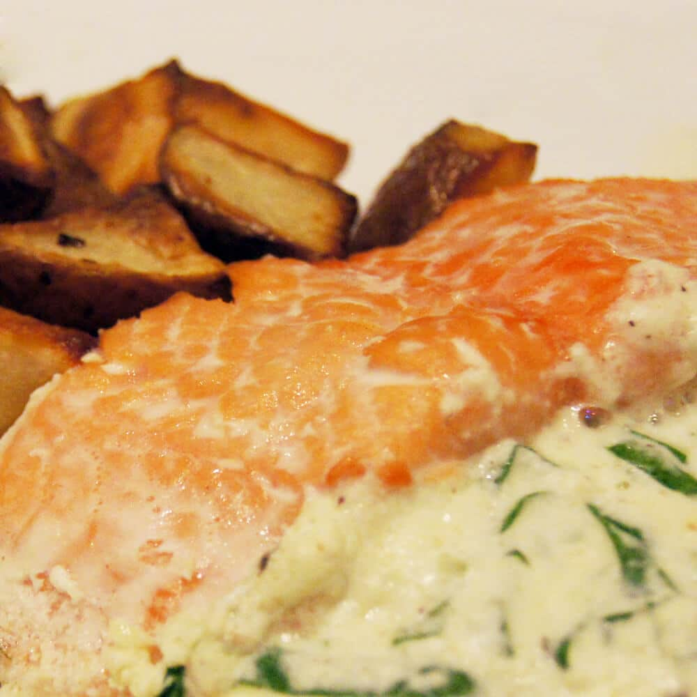 Ricotta and Spinach Stuffed Salmon