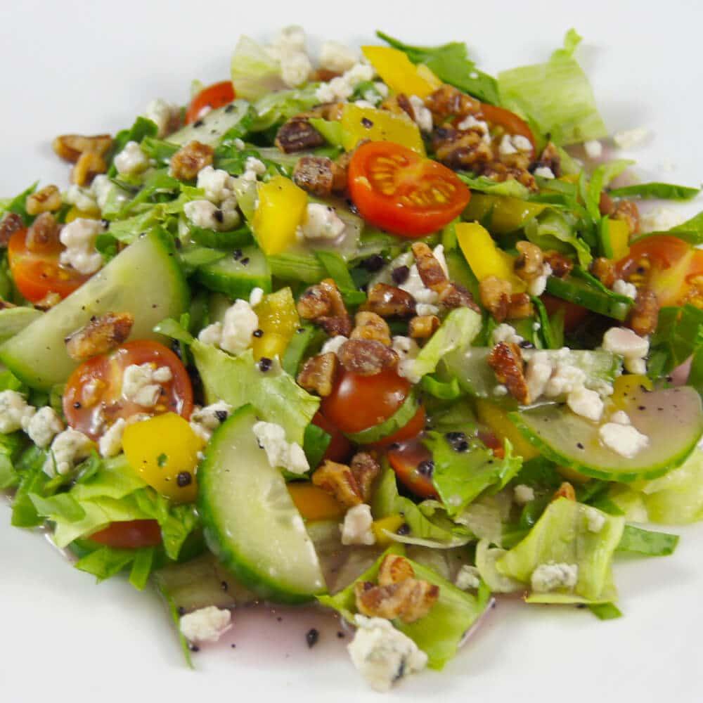 Pecan Raspberry Blue Salad
